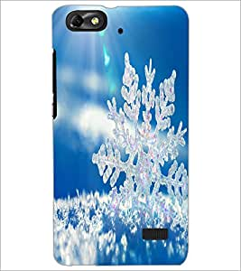 PrintDhaba Sun Rays D-1467 Back Case Cover for HUAWEI HONOR 4C (Multi-Coloured)
