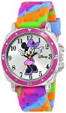 Disney Kids' MN1104 Watch with Tie Dye Rubber Band