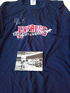 Nolan Ryan Signed Round Rock Express Shirt