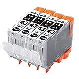Canon キャノン 互換インクカートリッジ BCI-43/8MP 対応 BCI-43LGY ライトグレー 単品3本セット PIXUS -PRO-100 ICチップ付き 残量表示機能