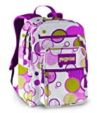 JanSport Classic Big Student Backpack, White/Newbud Green Pattern Dots