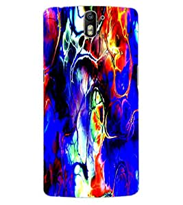 ColourCraft Abstract Image Design Back Case Cover for OnePlus One