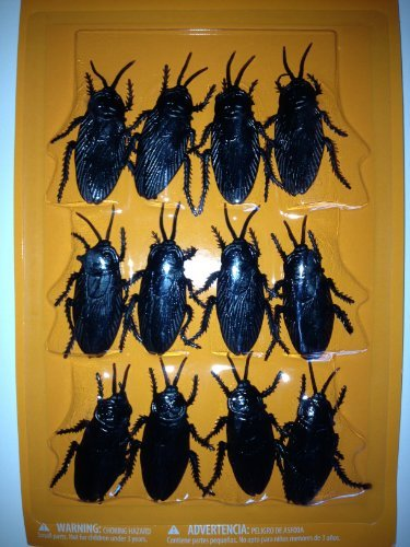 Set of 12 Cockroaches - 2 inch - Creepy Halloween Decor