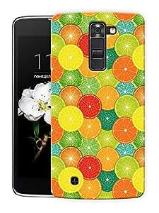 "Orange Slices Multicolor Printed Designer Mobile Back Cover For ""LG K7"" By Humor Gang (3D, Matte Finish, Premium Quality, Protective Snap On Slim Hard Phone Case, Multi Color)"