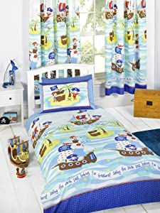 """Pirates Seven Seas 54"""" Drop Fully Lined Curtains by Price Right Home"""