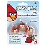 Angry Birds Red Bird Collectible Puzzle Erasers 3 pack