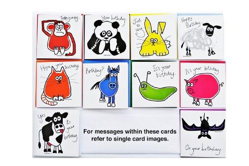 10 x BUMPER Pack 'Animal' birthday cards