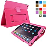 iPad Air 2 Case, Snugg™ - Smart Cover with Flip Stand & Lifetime Guarantee (Hot Pink Leather) for Apple iPad Air 2 (2014)