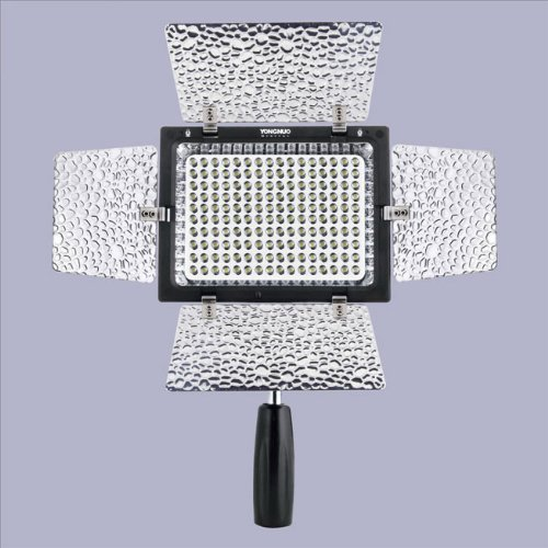 Yongnuo Yn-160Ii Led Video Camera Light With Condenser Mic And Luminance Remote Control For Canon Nikon Sony Olmypus Dslr Camera And Dv