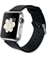IVSO Apple Watch Cinturino - Ultra-sottile e ultra-light 42 millimetri Guarda Cinturino in pelle con Premium Genuine Leather per Apple Watch (42mm - Nior)