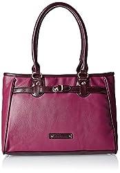 Caprese Women's Satchel Handbag (Pink)