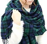 (ジーンズショップ マルカワ) Jeans shop MARUKAWA マフラー 大判 メンズ チェック ストール ユニセックス 男女兼用 冬 8color Free 柄B