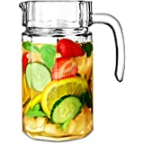 City Panelled Glass Jug 54.5oz / 1.55ltr - Glass Pitcher, Glass Cocktail Jug - Great For Juice, Water or Pimms!