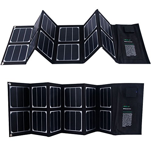 KINGSOLAR™ Highest Efficient 40W Foldable Solar Panel Portable Solar Charger Dual Output (USB Port + DC Output) (40w Solar Panel Folding compare prices)