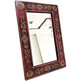 Shivay Arts Wooden Handcrafted Fine Embossed Wall Mirror Wall Decor Wall Hanging - B01EYA4J3A