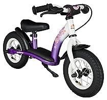 Bikestar 10 inch (25.4cm) Kids Balance Bike / Kids Running Bike - Classic - Lilac and White
