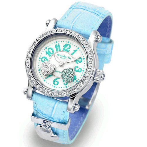 Alessandra Olla (アレサンドラオーラ) 腕時計 ムービングハート AO-4100-3-BL レディース