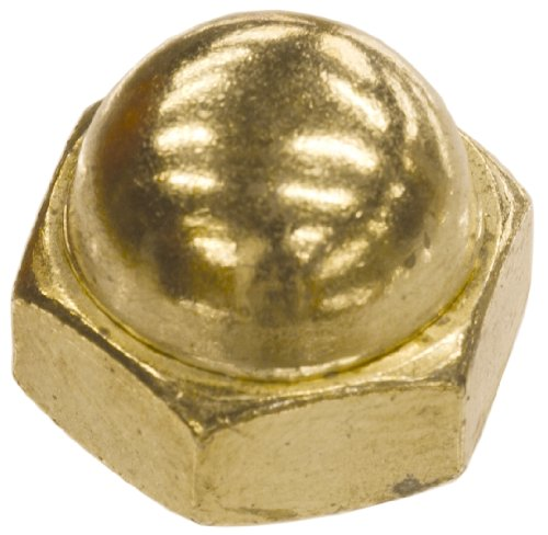 The Hillman Group 150476 Brass Acorn Nuts, 3/8-16-Inch, 100-Pack