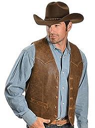 Scully Men\'s Western Lamb Vest Brown 42 R