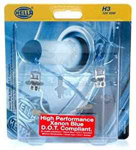 Hella Xenon Blue H3 Bulbs DOT (Stock Wattage)