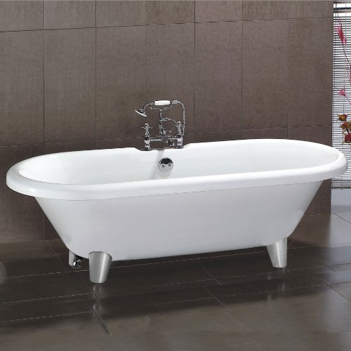 LARGE TRADITIONAL FREESTANDING ROLL TOP BATH TUB