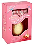 Lindt Lindor Strawberries and Cream White Shell Egg with Strawberry & Cream Lindor 285g