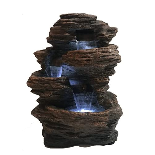 """Major-Q 96102 Decoration Feng Shui Rock Like Waterfall Fountain with LED Light, 14"""" H"""