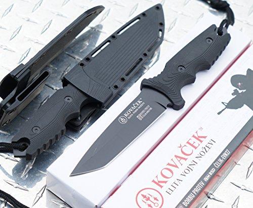 Kovacek EVN27 Tanto :: Tactical Combat- Fixed Blade knife :::Combat ready Kydax sheath- LIFETIME GUARANTEE*