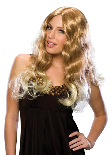 Rubie's Costume Flowing Wave Blond Wig, Yellow, One Size