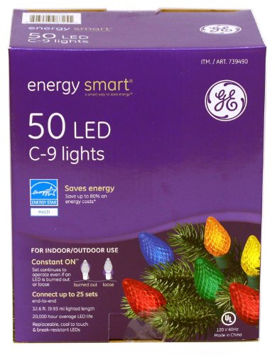 Ge Energy Smart C9 Multicolor Led Christmas Lights
