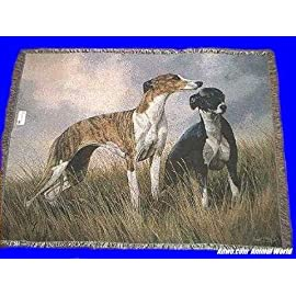 Greyhound Throw Blanket Tapestry Afghan