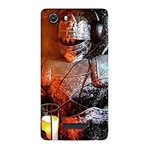 Delighted Warrior Knight Print Back Case Cover for Micromax Unite 3