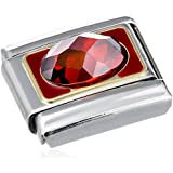 Nomination Composable Damen-Bead Classic Stahl Emaille 18k-Gold (rot) 030608/005