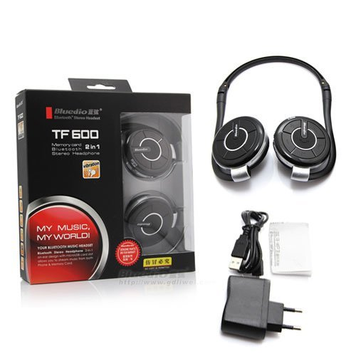 Bluedio TF600 Bluetooth Stereo Headset - Black/red Bluedio Bluetooth Headsets autotags B00AD93EO2