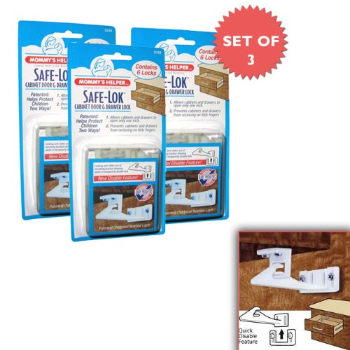 Mommy's Helper Safe-Lok for Drawers and Cabinets (Set of 3 Packs of 6!)