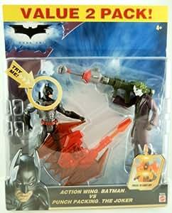 "DC - Batman - The Dark Knight - Hero DC Zone - EXCLUSIVE Value 2-Pack - Action Wing BATMAN vs Punch Packing THE JOKER - 6"" Action Figuren - OVP"