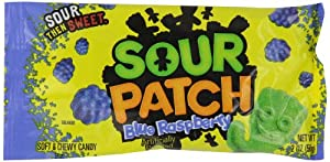 Sour Patch Soft & Chewy Candy, Blue Raspberry, 2-Ounce Packages (Pack of 24)