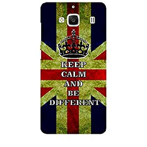 Skin4gadgets Keep Calm and BE DIFFERENT - Colour - UK Flag Phone Skin for XIAOMI REDMI 2