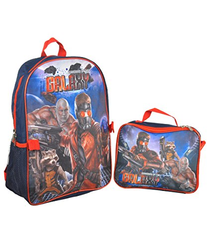 "Guardians of the Galaxy ""Galactic"" Backpack with Lunchbox - navy/red, one size - 1"