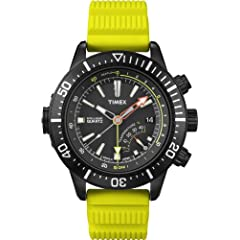 Buy Timex Intelligent Quartz Depth Gauge, Yellow Band by Timex