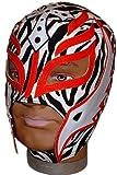 REY MYSTERIO Pro-Grade KIDS Zebra/Red MASK