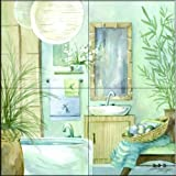 The Tile Mural Store - Tropical Bath II by Jerianne Van Dijk - Kitchen Backsplash / Bathroom wall Tile Mural