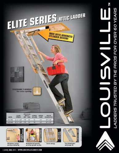Louisville Ladder Aa259gs Elite Aluminum Attic Ladder 350