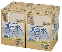 (お徳用ボックス) [2CS] サントリー 天然水(南アルプス) (2L×6本)×2箱