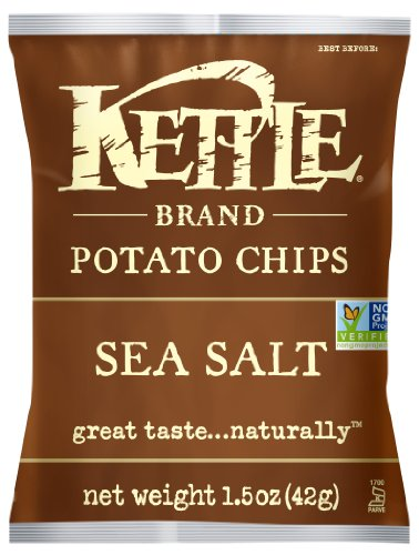 Kettle Brand Potato Chips, Sea Salt, 1.5-Ounce Bags (Pack of 24) (Kettle Brand Chips compare prices)