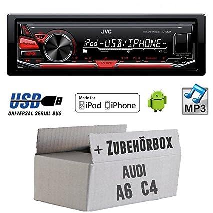 Audi A6C4-JVC KD X230E-Kit de montage autoradio USB Lecteur MP3-