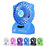 Small-Portable-FanWild-Wolf-LED-Light-Portable-Table-Fan-USB-Rechargeable-Fan-Powered-with-2x2200mAh-Power-Mini-Light-For-Hot-Summer-Outdoor-Travelling-Home-and-OfficeOutdoor-Activities-As-CampingHiki