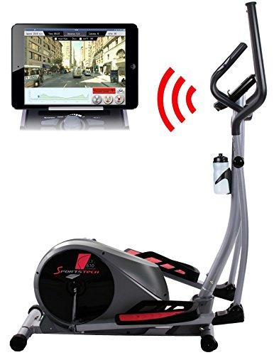 Sportstech CX610 Cardio Training Ellittica professionale con il controllo Smartphone App + Google Street View, Massa d'inerzia di 18 KG, HRC - 32 livelli di resistenza - hometrainer ergometro stepper