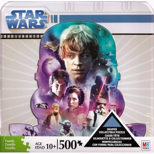 Cheap Milton Bradley Star Wars 500 Piece Shaped Puzzle in Collectible Tin (B004UO4YXQ)