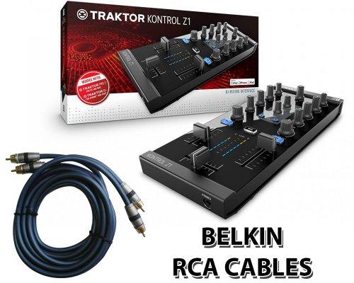 Native Instruments Traktor Kontrol Z1 Dj Mixing Interface + Free Belkin Rca Cables.